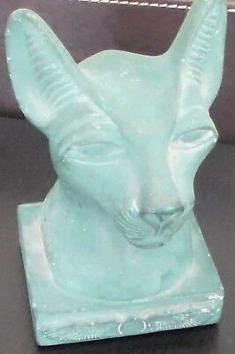 Beautiful Vintage, Ahmed Zenhoom large head of cat goddess BASTET, MADE IN EGYPT