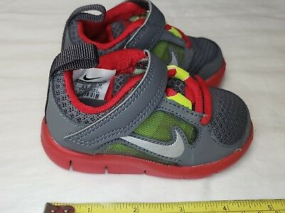 best loved 731e6 c7881 New Nike Free Run 3 Boys Toddler Running Size 4c Grey and Red