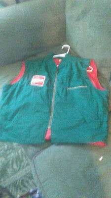 Vintage Coca Cola Drivers Vest- Green with red patch- GREAT CONDITION!