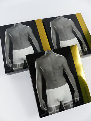 JULIPET - SIZE M (FR2/IT3) - Set of 3 boxers man IONIO, White