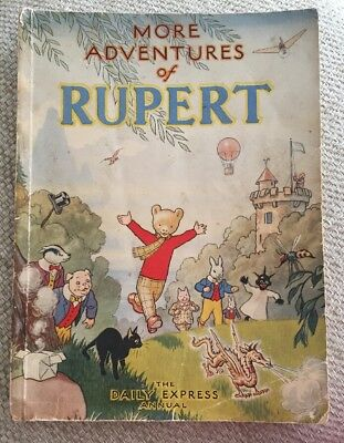Rupert Annual 1947 - softback Daily Express More Adventures Rupert unclipped