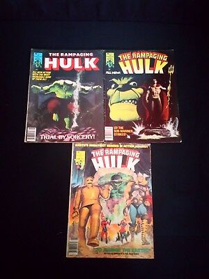 The Rampaging Hulk Marvel Comic's x 3 No's 4,5,9 (1977)