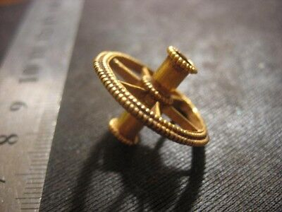 Ancient gold pendant  Solar amulet  Metal detector finds 100% original