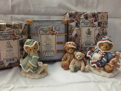 Cherished Teddies lot of 3 Bailey, Felicia, Irmgard birds initial production run