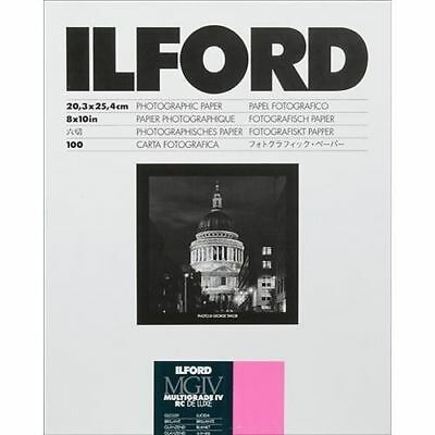 "Ilford 8 x 10"" Multigrade IV RC DLX Black & White Paper 100 Shts Glossy, 1770340"