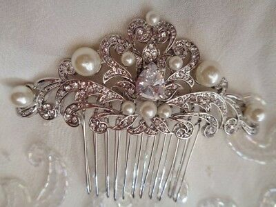 Stunning  hand made bridal Hair Comb, Vintage style, art deco, 1920, Gatsby