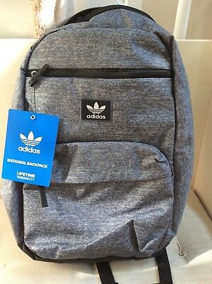 e0a1fe4cfeb ADIDAS ORIGINALS NATIONAL Backpack Jersey Onix Black One Size BNWT ...