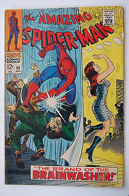 AMAZING SPIDER-MAN # 59 GD/VG (3.0) 1st Mary Jane cover
