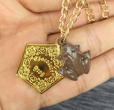 Harry Potter Chocolate Frog Gold Necklace Metal Pendants jewelry Kids Gift