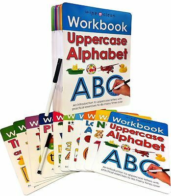 Wipe Clean Learn To Write 10 Books Collection Set Inc Marker Pen Alphabet Number