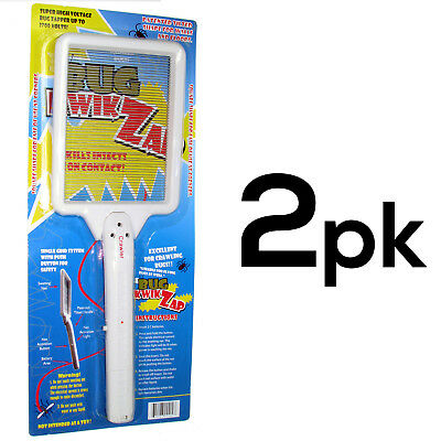 Handle Zapper Bugs Racket Electrostatic Technology Fly Mosquito Swatter (2PK)