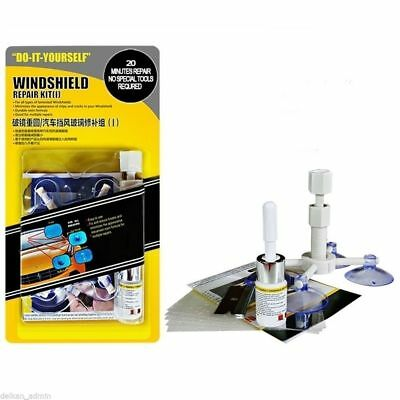 Premium Windshield Repair Kit Crack DIY Auto Glass Wind Screen Chips & Cracks UK