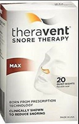 2PK Theravent Snore Therapy Strips Max 20 ct 858076006019YN