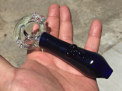 """4.3/4"""" INCH Collectible TOBACCO Smoking Pipe Herb bowl Glass Hand Pipes"""