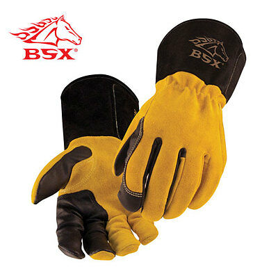 BSX® Premium 3 Kidskin Finger Cowhide Back TIG Welding Gloves Size XL