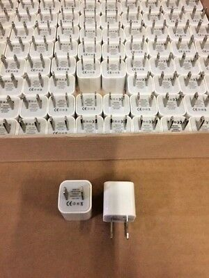 USB CE Generic Brand 5W USB Power Adapter Cubes For Apple iPhone 100pcs
