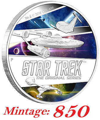"""Star Trek: The Original Series – Ships 2018 2oz Silver Proof Coin *Mintage: 850"""""""
