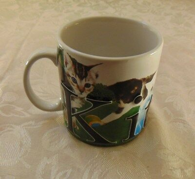 Kittens Rule Large Coffee Cup Mug American Ware Cats Raised Letters