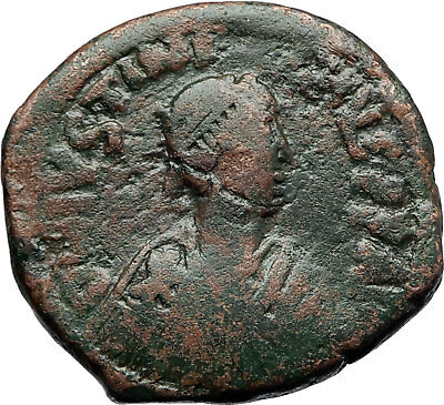 JUSTIANIAN I the GREAT 527AD Constantinople Follis Ancient Byzantine Coin i70652
