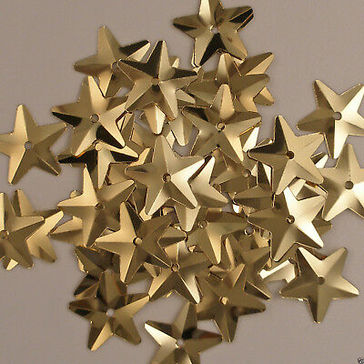 Sequins Gold Stars 100 pieces Loose
