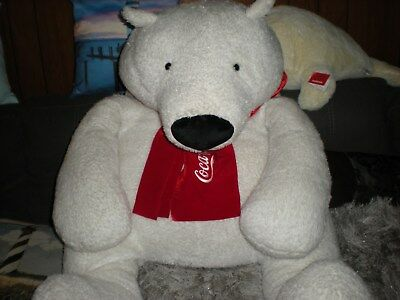 Huge Jumbo Plush Coca Cola Polar Bear Advertising Plush Collectible Decor-Gift