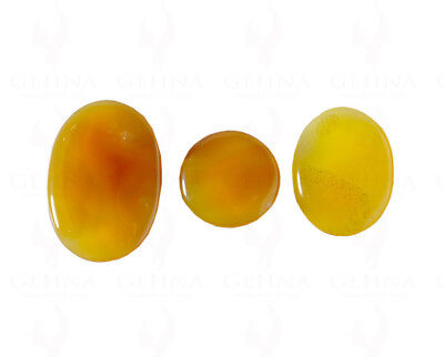 32 To 53 Mm Round & Oval Shaped Yellow Onyx Gemstone Ss1330