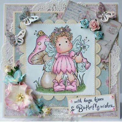 Cute Fairy Girl Clear Transparent Stamps& Metal Cutting Dies Stencils DIY Crafts