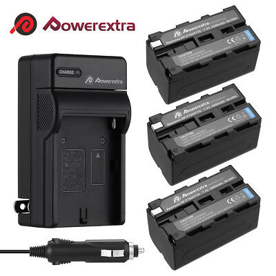 5200mAh NP-F750 Li-ion Battery +Charger For Sony NP-F760 NP-F770 F970 DCR-VX2000