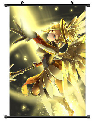 B5662 Overwatch Mercy anime manga Wall scroll Stoffposter 25x35cm