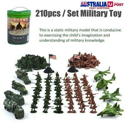 210Pcs Military Toy Set Soldier Model Kit Army Men Figures Truck Aircraft Kids
