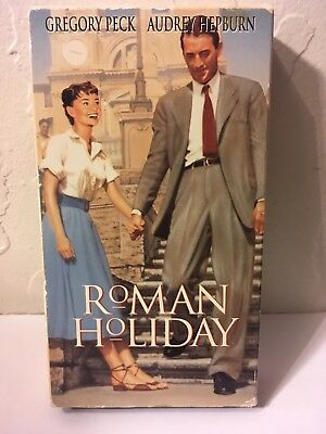 Roman Holiday (1953) used VHS. Gregory Peck, Audrey Hepburn