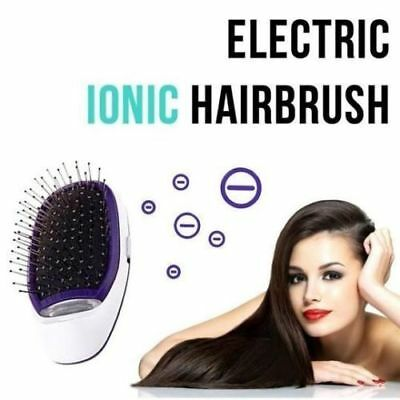 Portable Electric Ionic Hairbrush Takeout Mini Hair Brush Comb Massage Small New