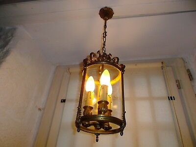 French antique/vintage lantern bronze  to hall way exquisite 3 light