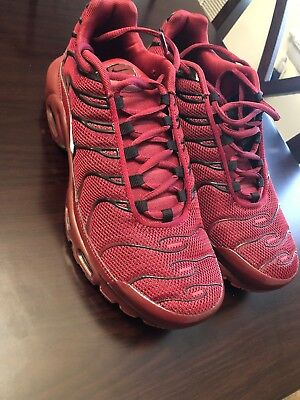 hot sale online a417d dff0f NIKE AIR MAX Plus Size 8.5 TN Tuned 1 Team Red Burgundy Black Bred White  Mens