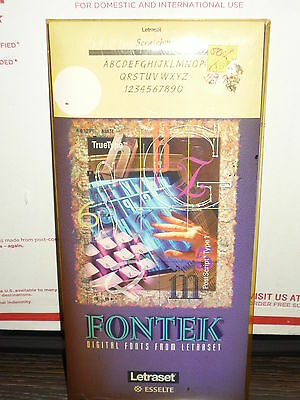 Fontek Digital Fonts from Letraset Lexikos software vintage rare!