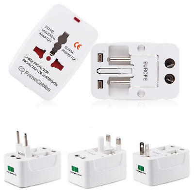 PrimeCables® Universal Travel AC Adapter All in One UK/US/AU/EU/CA Multi Plug