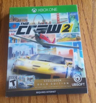 The Crew 2 Gold Edition Steelbook Microsoft Xbox One Brand New