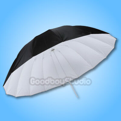 "Studio Photogrphy  60"" / 150cm Black White Reflective Lighting Light Umbrella"