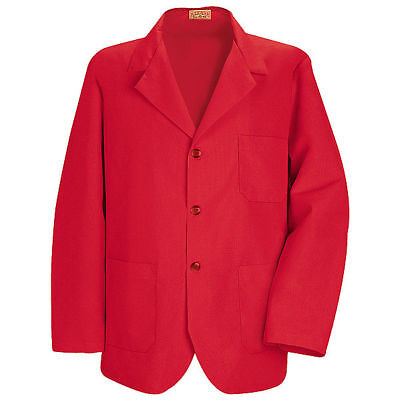 Red Kap Men's Lapel/Counter 3 Button Coat (Pack Of 2) Size M -KP10 FREE SHIPPING