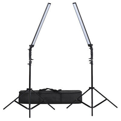 2x LED 30W Photo Studio Video Dimmable Lighting handheld Light Softbox +2M Stand