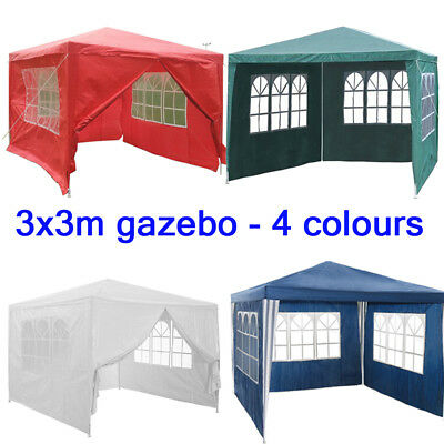 3x3 m Pavillon Garten Party Bier Pavillion Camping Event Zelt mit Seitenteile