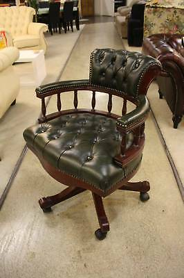 A Chesterfield Leather Captains Office Chair with Warranty - Various Colours