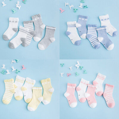 5 Pairs Newborn Baby Kid Boy Girl Cotton Socks Infant Toddler Kid Soft Cute Sock