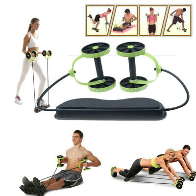 ABS Abdominal Exercise Double Wheel Gym Fitness Machine Strength Training Roller