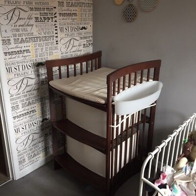 Stokke Care Walnut Changing Table and Nursery Storage Unit