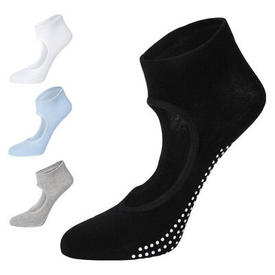 Women Lady Girl Anti Skid Wear-resisting Combed Cotton Solid Yoga Ballet Socks