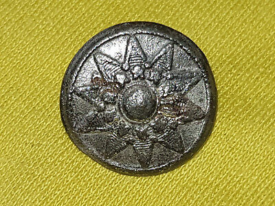 Small Medieval German 16th/17th Century Flower Star Button Pewter decorated old