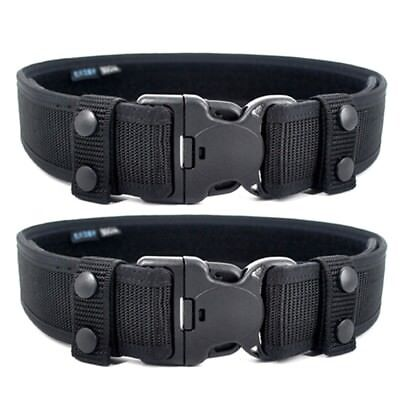 2 Pcs Waist Special-purpose Pressed Fixed Buckle Safety Lock Belt Ring Black New