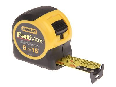Stanley Fat Max Tape 5M/16 Ft  0 33 719 Measuring Tapes  Extra  Wide Blade Lock