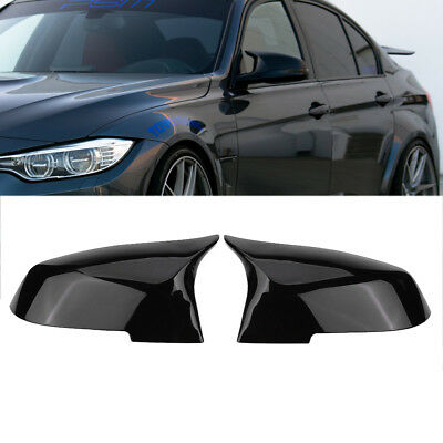 Gloss Black Mirror Cover Rearview For BMW F20 F21 F87 M2 F23 F30 F36 X1 M4-Style
